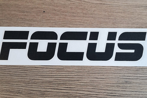 Ford Focus Retro Style Decal / Sticker
