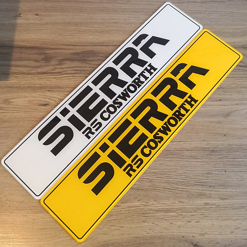 Sierra RS Cosworth Dealership Style Show Plates
