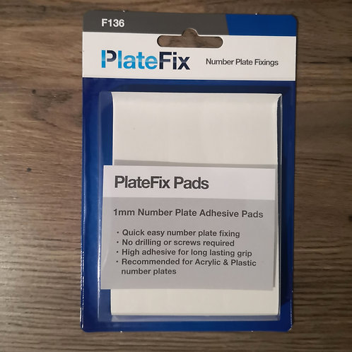 PlateFix 1mm Number Plate Adhesive Pads