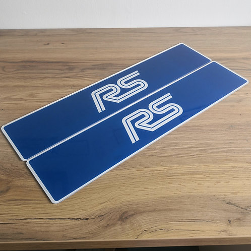 Ford Focus RS Mark 1 Show Plates
