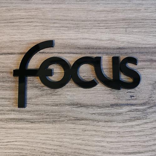 Ford Focus Acrylic Cut Self Adhesive Badge