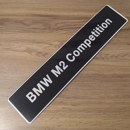 BMW M2 Competition Dealership Style Show Plate