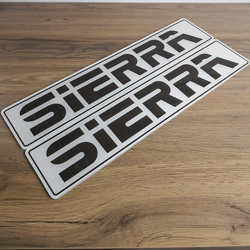 Ford Sierra Dealership Style Show Plates