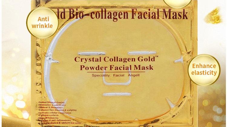 Set of 6 24K Gold Gel Collagen Crystal Facial Masks Sheet