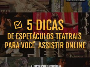 5 DICAS DE ESPETÁCULOS MINEIROS PARA VOCÊ ASSISTIR ONLINE