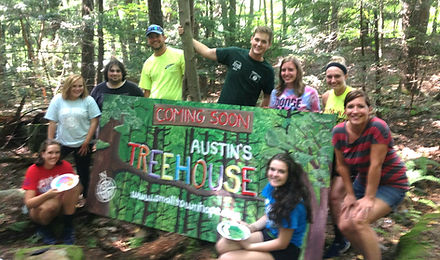 Treehouse Coming Soon Sign made with Int