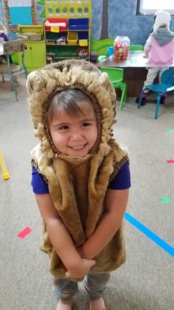 Lion Costume Girl Big Smile Thank You Ca