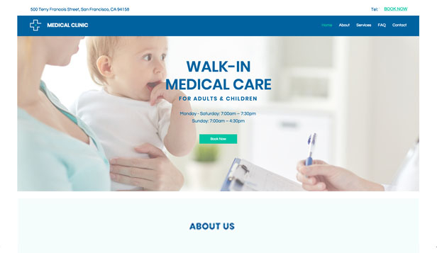 Hälsa website templates – Drop-in-klinik
