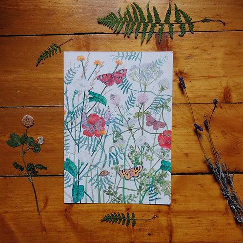 Summer Meadow Print A4