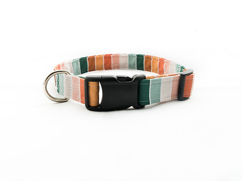 Vintage Boho Stripes - Dog Collar