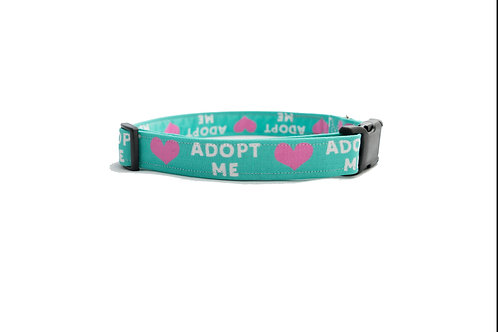 Pink Heart Adopt Me Dog Collar- Buy for a rescue