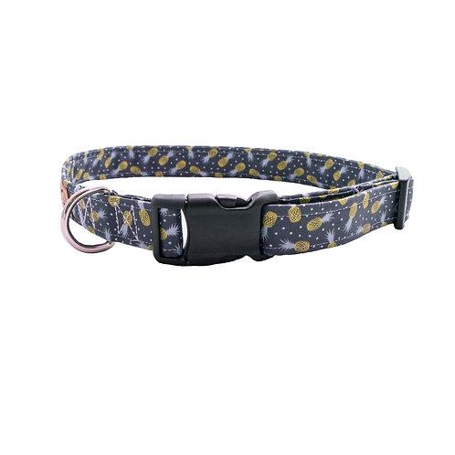 Modern Pineapples with Polkadots- Dog Collar