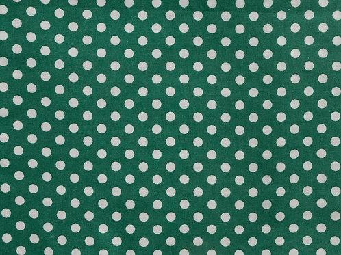 Green Polkadots - Dog Collar