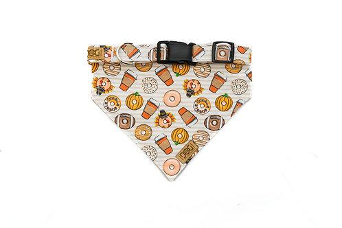 Pumpkin Spice and Everything Nice - Matching Collar & Bandana Set