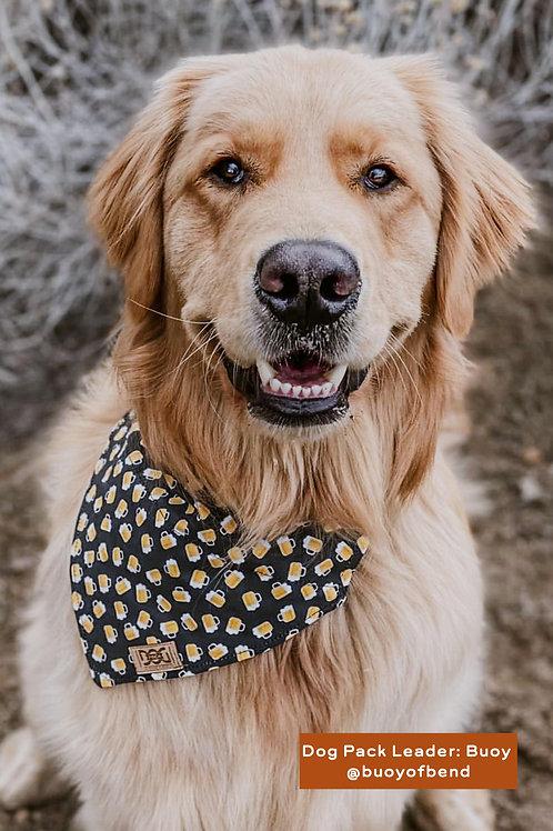 Brewtiful Buds - Matching Dog Collar and Dog Over the Collar Bandana Set