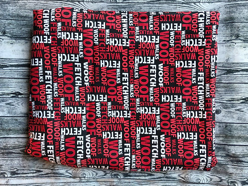 Collar-Black with Red & White Writing