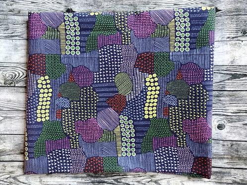 Collar-Purple with Geometric Designs