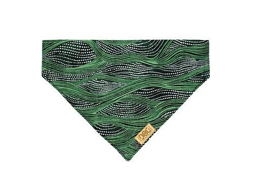 Green Waves Over the Collar Bandana