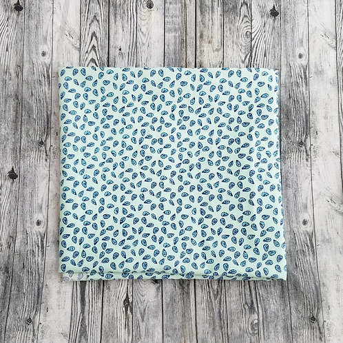 Bandanas-Light Blue with Darker Blue Water Drops