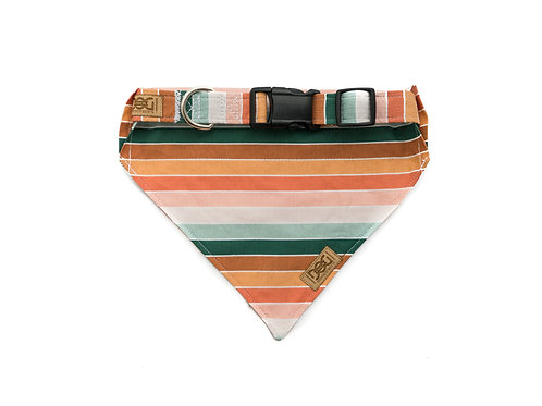 Vintage Boho Stripes - Matching Collar & Bandana Set