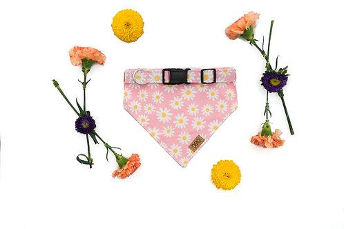 Bountiful Blooms - Matching Dog Collar and Dog Over the Collar Bandana Set