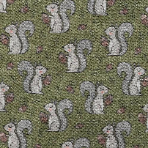 Autumn Squirrels - Dog Bow Tie
