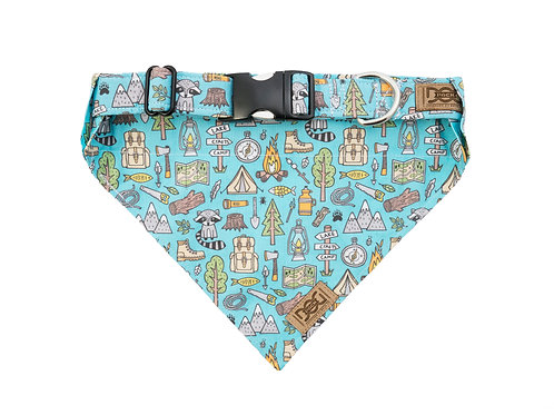Camping & Backpacking - Matching Collar & Bandana Set