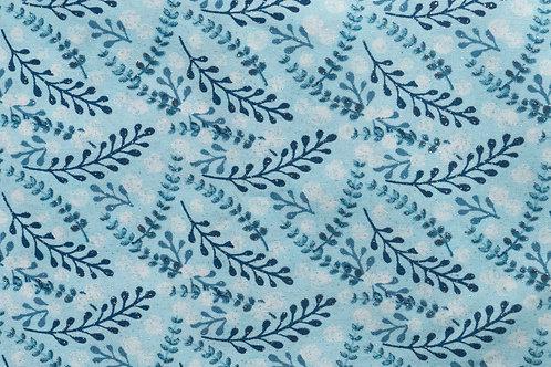 Blue Floral Sparkle  - Dog Collar