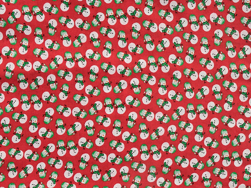 Red Snowmen - Cat Collar