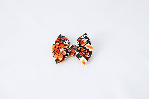 Retro Fall Floral Dog Bow Tie