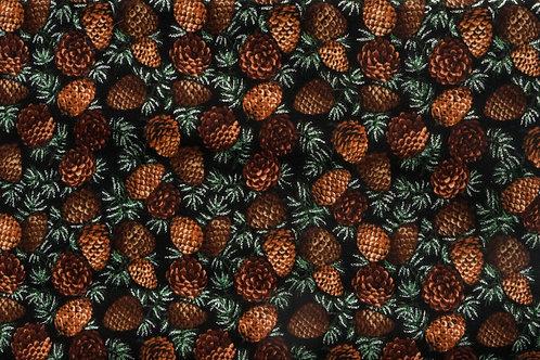 Sparkles Pinecones - Single Layer Tie Bandana