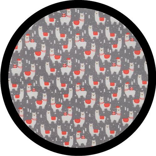 Festive Llamas - Single Layer Tie Bandana