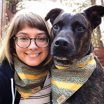 Dog mom from Dog Pack Collars. Handmade adventure dog wear. Washable, earth friendly, high quality materials. The best handmade dog wear.