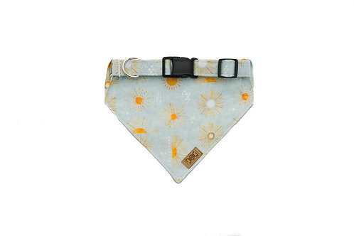 Warm Wonders - Matching Dog Collar and Dog Over the Collar Bandana Set
