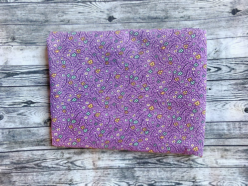 Bandanas-Purple with Little Flowers