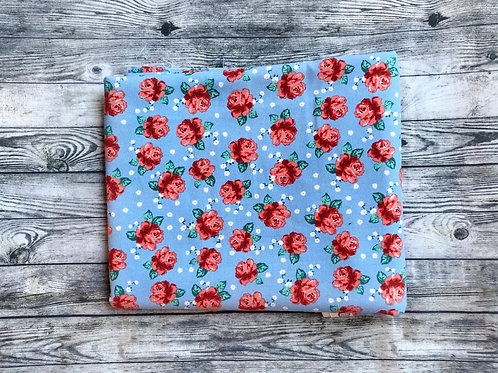 Bandanas- Blue with Red Roses
