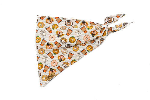 Pumpkin Spice and Everything Nice - Single Layer Tie Bandana