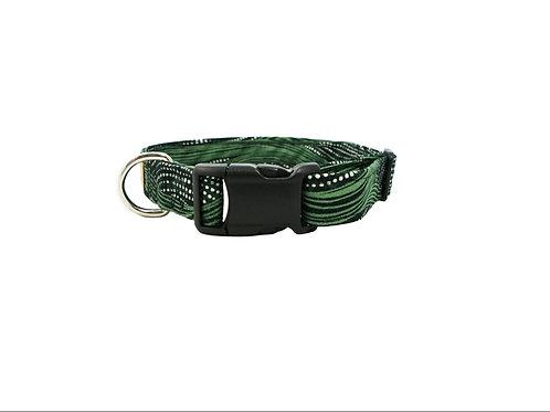 Green Waves Dog Collar