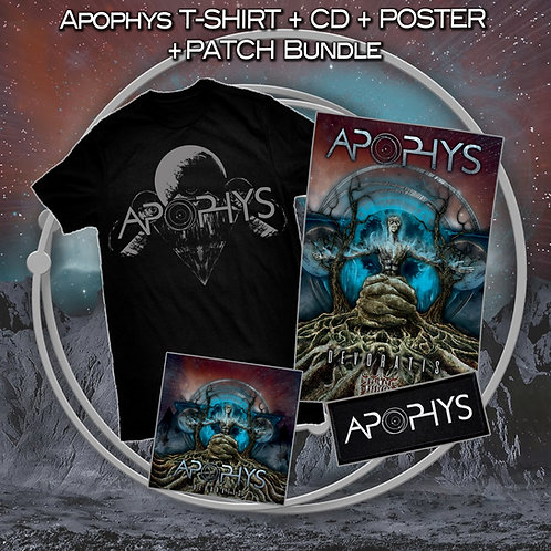 Apophys logo t-shirt + CD + poster + patch bundle VERY LIMITED!!!