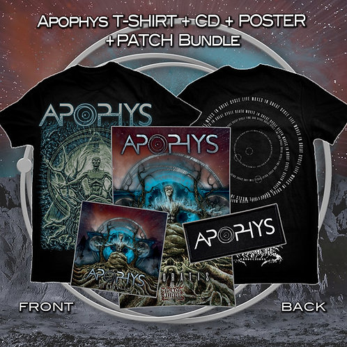 "Apophys ""Devoratis"" t-shirt + CD + poster + patch bundle VERY LIMITED!!!"