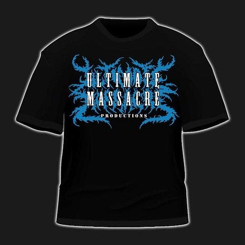 Ultimate Massacre Productions logo t-shirt