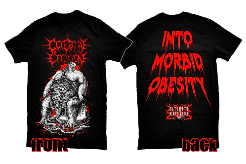Cerebral Effusion official licensed 'Into Morbid Obesity' t-shirt RED