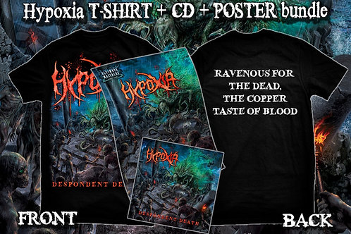 "Hypoxia ""Despondent Death"" t-shirt + CD + poster bundle"