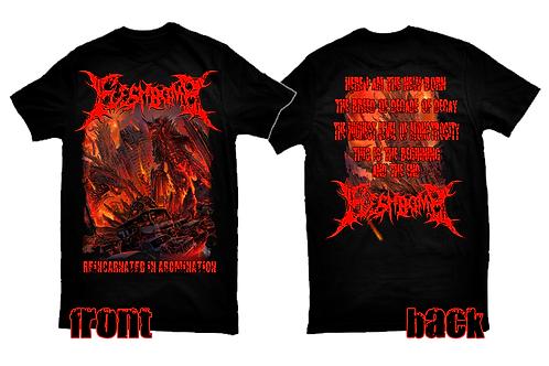 Fleshbomb 'Reincarnated in Abomination' t-shirt