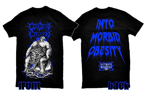 Cerebral Effusion official licensed 'Into Morbid Obesity' t-shirt BLUE