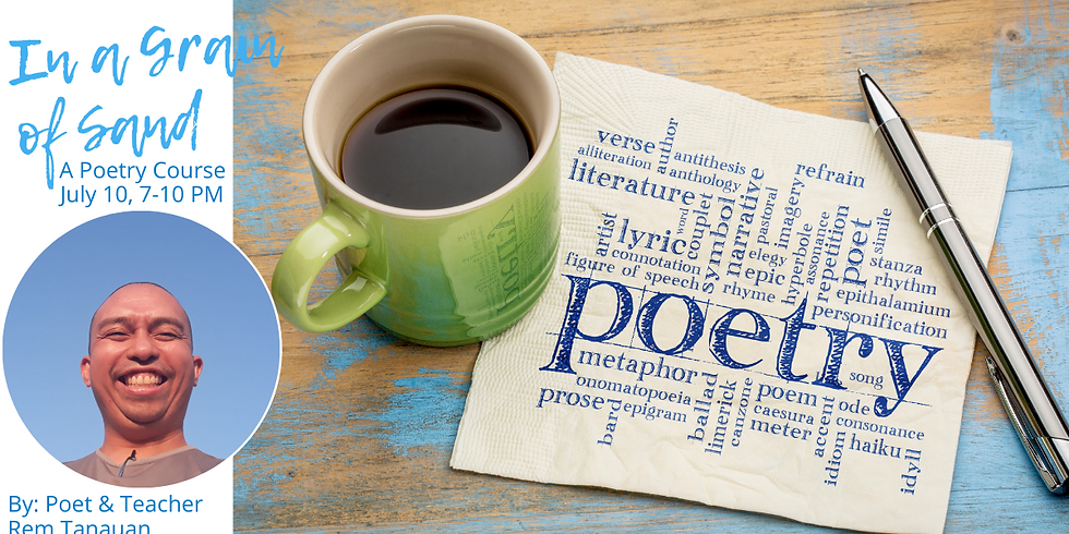 In A Grain Of Sand: a 3-Hour Process of Freeing Your Poetry