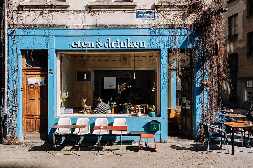 Devanture du restaurant design Eten & Drinken