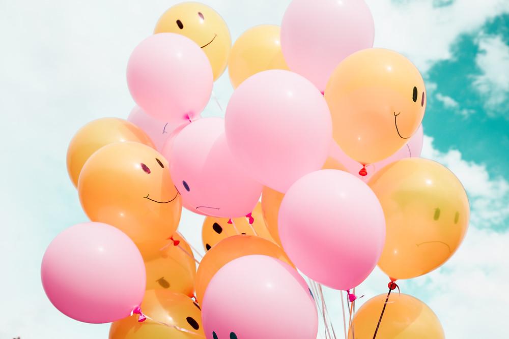 Ballon avec un smiley happy