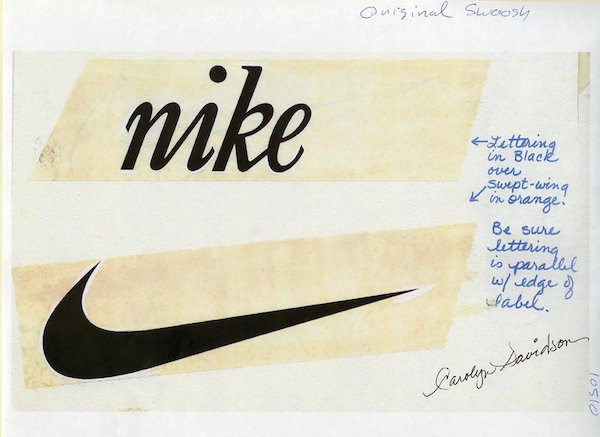 Esquisse du logo Nike