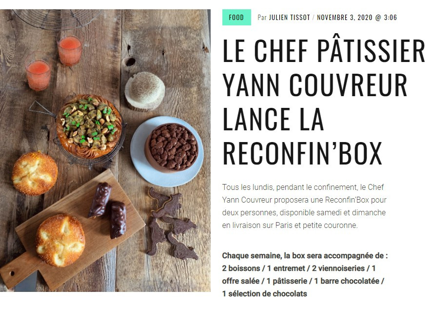 Reconfin'box du Chef patissier Yann Couvreur